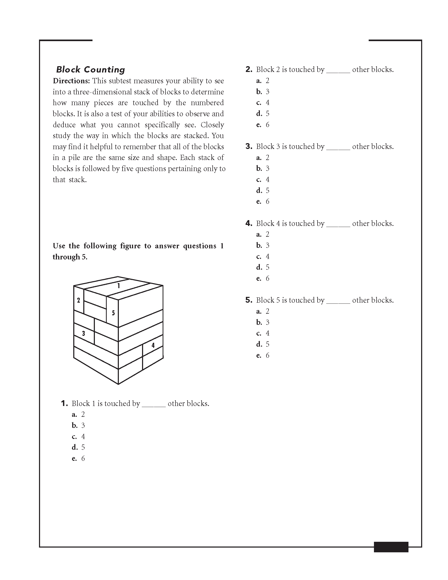 AFOQT Block Counting Practice Test Questions