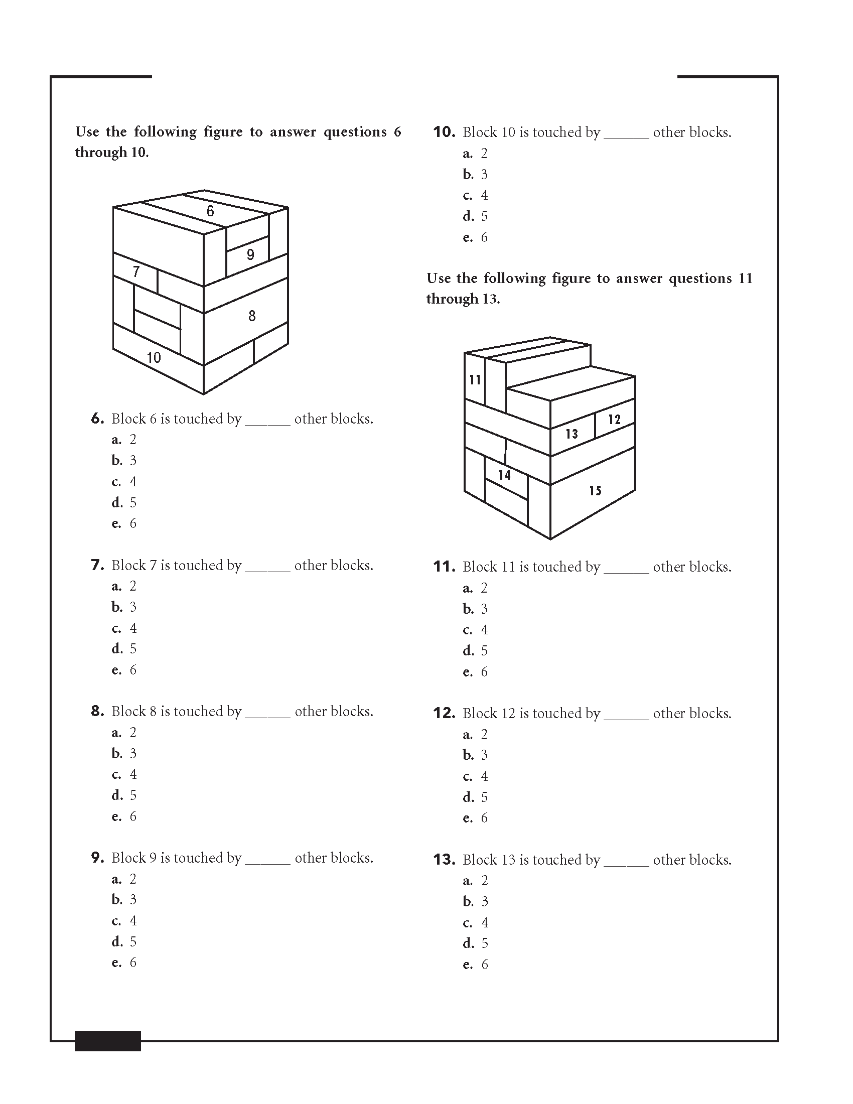AFOQT Block Counting Practice Test Question Sample