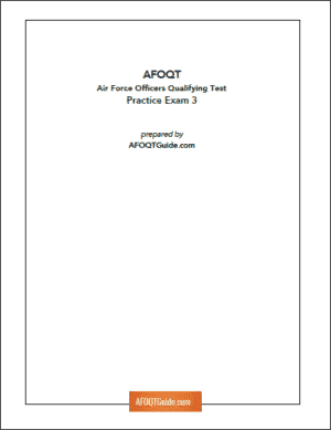 Cover Page of AFOQT Guide Practice Test 03