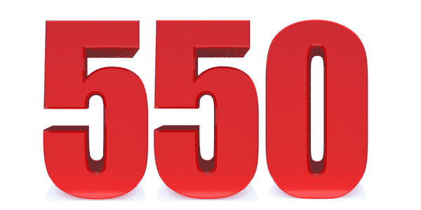 The AFOQT Contains 550 Questions - This is a 550 Numerical Decal