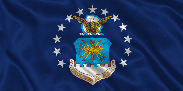 An image of the United States Air Force Flag